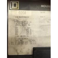 Square D 400 AMP, 600 VAC Circuit Breaker LHL600M1124