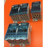 Lot of 5/ ERICO UDF-500A Single Pole Distribution Block – UDF-500A (569060)  600v 1pole