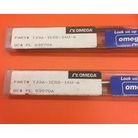 Lot of 2-Omega Thermocouple Probe TJ36-ICSS-14U-6