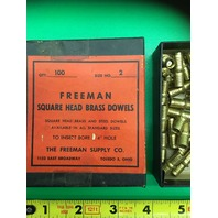 46- Size No. 2 Freeman Square Head Brass dowels, To Insert Bore 1/4 Hole