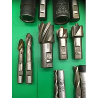 Lot of 18- Assorted Weldon End Mills and 2 Center Cutting 4 Flutes