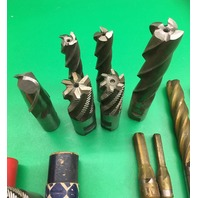 13 Assorted End Mills