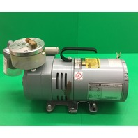 Gast Oil-less Vacume Pressure Pump, Model No. 0523-V138Q-G18DX, 1/4 HP, 1725 RPM, 1 Ph/ Tested