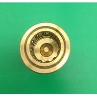 "Eaton Hansen B6KP31 Brass ISO-B Interchange Hydraulic Fitting, Plug with Valve, 3/4""-14 NPTF Female, 3/4"" Body"