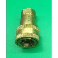 "PARKER 3/4""-14 Brass Hydraulic Coupler Body, 3/4"" Body Size , Model: BH6-60"