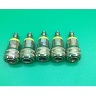 Lot of 5 Brass Tomco Hydraulic Coupler T4000 Series