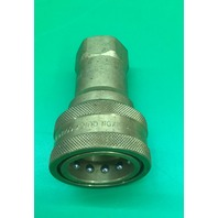 "Dixon Valve 8HF8-B Brass ISO-B Interchange Hydraulic Fitting, Coupler, 1"" Coupling x 1"" - 11-1/2 NPTF Female Thread"