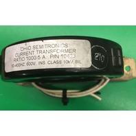 2- OHIO SEMITRONICS LOW COST CURRENT TRANSFORMERS 10423, FREQUENCY RANGE 50-400 HERTZ