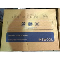 INSWOOL HP Refractory Ceramic Fiber Blanket/ In box ( HP 8# 1 X 24 X 25') 50 sf per ctn / Item# 69998