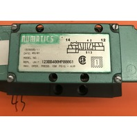Numatics  Solenoid Valve 123BB400MP00061, with Regulator 1124RS615JP00000 and Manifold