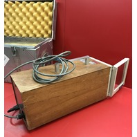 Working/ Vintage Woody Chessell, Chart recorder /metal  storage box /W handles