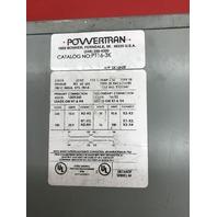 Powertran Transformer, Cat No. PT16-3K, 3 KVA , 1 Phase