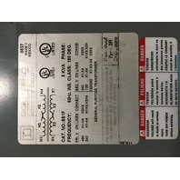 Square D 5KVA Transformer 5S1F  240 x 480 V- 120/240 V 1PH