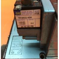 Mac 82A-AC-CKA-TP-DAAP-4DA-9 Solenoid Valve assembly with TP-DAAJ-4DA, 5.4 W - Used