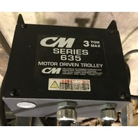 CM 3 Ton Max Series 635 Moterized Hoist Trolley