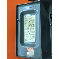 Square D Safety Switch, Cat No. H322N, Series F, 60 Amp, 240V