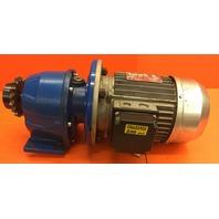 Bonani Motor Type TR80B4  with Varmec Gear Reducer 9:92 Ratio