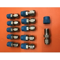"""11-Swagelok SS-300-1-4 Tube Fitting Male Connector, 3/16"""" Tube OD, 1/4"""" Male NPT"""