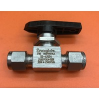 Swagelok  SS-42GS4, 1-PIECE 40 SERIES BALL VALVE   0.6 CV, 1/4 IN.  TUBE FITTING