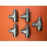 """5- Fastenal (SKU # 426409) 1/4"""" Male NPT x 1/4"""" Female NPT Stainless Steel Branch Tee"""