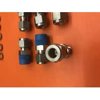 SWAGELOK #SS-600-1-6 Tube Male Connector, 3/8 in OD Tube, Stainless Steel Type 316