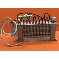 SMC Numatics Manifold VV5QC41-09N7MD0 & 9- SMC Solenoid Valves VQC4101-5