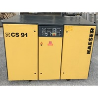 KAESER  CS 91 Rotary Screw Air Compressor, 75 HP, 460 V, 3 PH