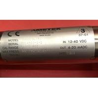 Ametek Electronic Pressure Sensor Transmitter, Model 88S005L2T2