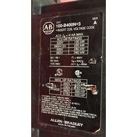 Allen Bradley 100-B400N-3 Contactor 120V Coil