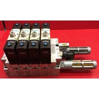 Festo VSVA-B-P53E-H-A1-1R5L Pneumatic Valve block with 4 Valves