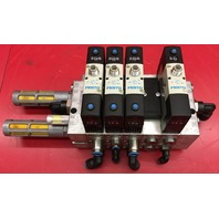 Festo VSVA-B-P53E-H-A1-1R5L Pneumatic Valve block with 4 Valves and 5 sub-base