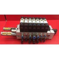 Festo  Pneumatic Valve block with 7 Valves and 8 Manifold sub-base