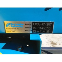 "New London Engineering 1000S-10""-16' Plastic Chain Conveyor 230/460 V 3 phase"