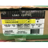 GE TM2415R42B Mod 6 Load Center 150 Amp 120/240 VAC 1 Phase 3 Wire 3R Enclosure