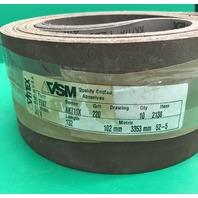 """Vitex VSM KK711X, 220 grit, 4"""" x 132"""", ALUMINIUM OXIDE Sanding Belts, Pack of 10"""