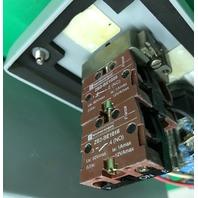 Hoffman enclosure E-4PBGX,1-Telemecanique E-stop, 3- AB off/Enable flip Switches