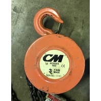 CM Series 622 3 Ton Hand pull Chain Hoist, 8 Ft, 10 Inch chain