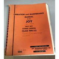 Joy Heavy Duty Stationary Compressor Class WN-112 Operation & Maintenance Manual