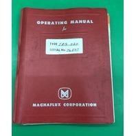 Magnaflux Operating Manual, Type TAQ-524, Serial No. 76507, Horizontal Wet Units