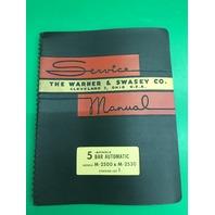 Warner & Swasey No.5 Spindle Bar Machine M-2500 & M-2530 Service Manual Lot 1