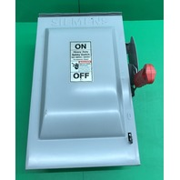 Siemes Heavy Duty Safety Switch 600V 60 Amps Type 3R Cat. No. HF362R