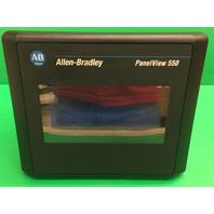 Allen Bradley Panelview 550 Cat# 2711-T5A2L1 Ser B