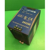 LUTZE DRA240-24A Redund POWER SUPPLY INPUT 115/230VAC 5.4/2.2A OUTPUT 24VDC 120W