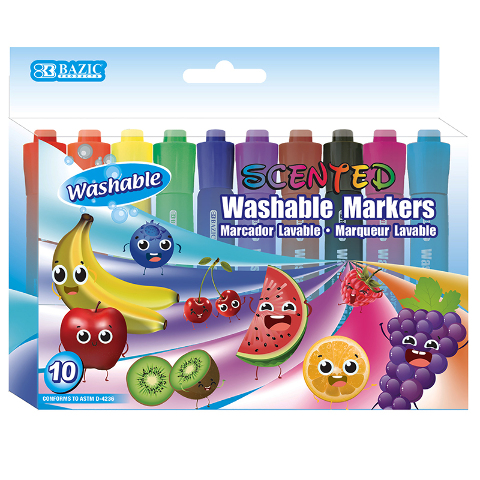WASHABLE MARKERS SCENTED 10 COLORS