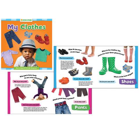 GROW W/ STEAM BOARD BOOK MY CLOTHES