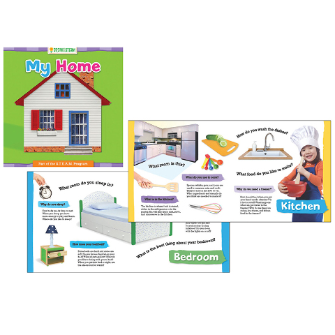 GROW WITH STEAM BOARD BOOK MY HOUSE
