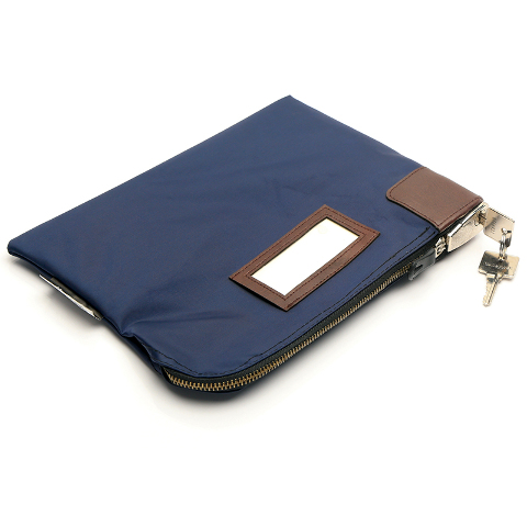 KEY LOCK CASH & DOCUMENT ZIPPER BAG
