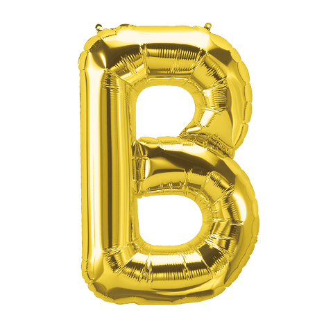 16IN FOIL BALLOON GOLD LETTER B