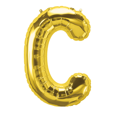 16IN FOIL BALLOON GOLD LETTER C