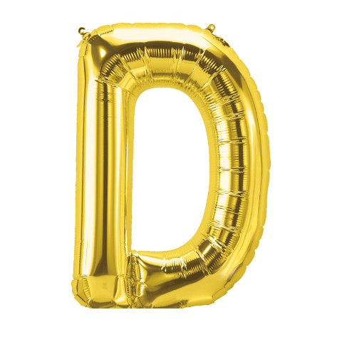 16IN FOIL BALLOON GOLD LETTER D